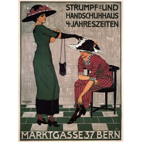 Advertising poster - Marktgasse 37 Bern - High definition printing on stainless steel plate