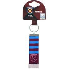 West Ham Bar Scarf Keyring - United Gift Official Football -  west ham united bar scarf keyring gift official football