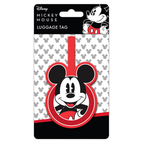 Retro Mickey Mouse Rubber Luggage Tag