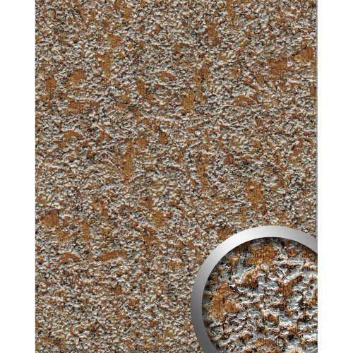 WallFace 14805 LAVA Wall panel textured stone optic plate brown grey | 2.60 sqm