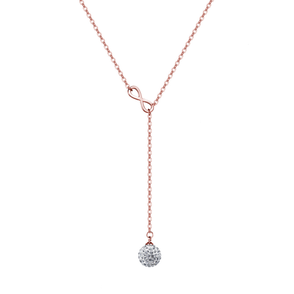 39ebcb99ab21c Rose Gold Plated Infinity Necklace Created with Swarovski Crystals