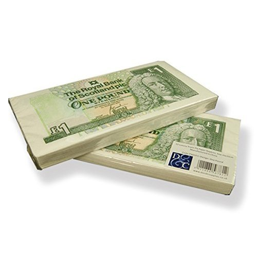 Scottish Royal Bank of Scotland £1 / One Pound Note Money Lunch Napkins - 2 x 24 Pack - Fun Retro paper Tableware Napkins