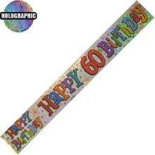Age 60 Birthday Banner Unisex