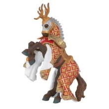 Weapon Master Stag Horse - Papo 39912 Knights Figure New Figurine Deers Head -  papo horse 39912 knights stag figure new weapon master figurine deers