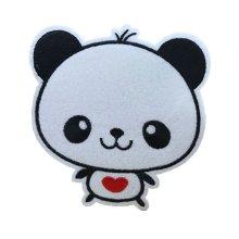 10PCS Embroidered Fabric Patches Sticker Iron Sew On Applique [Panda E]