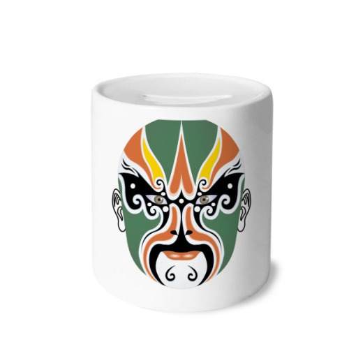 Peking Opera Mask Colorful Chengyaojin Money Box Saving Banks Ceramic Coin Case Kids Adults