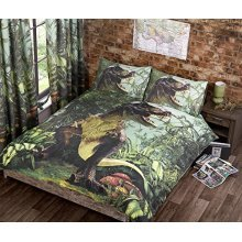 T Rex Pencil Pleat Curtains Pair 66 x 72 Inches Fully Lined Jurassic Dinosaur - -  curtains jurassic 72 rex dinosaur lined jungle bedroom 66 fully