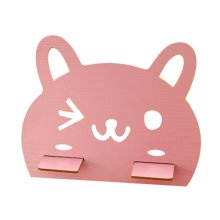 Cute Cartoon Mobile Phone Holder Wood Tablet PC Holder, Pink