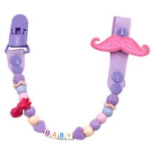 Baby Pacifier Leashes/Cases Special Pacifier Clips Pacifier Holder(Moustache)