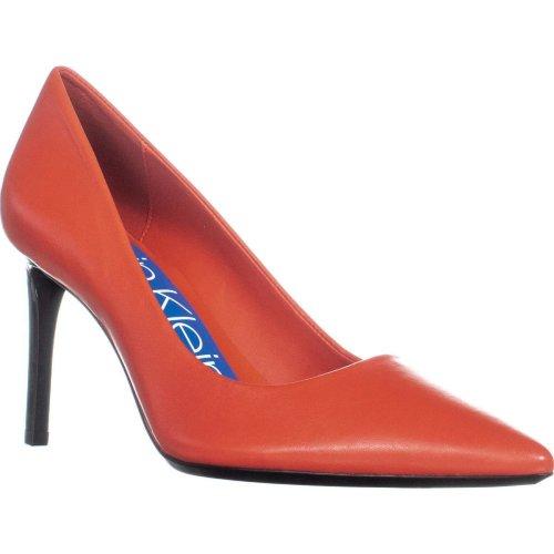 Calvin Klein Rizzo Nappa Classic Pumps, Cayenne, 7.5 UK