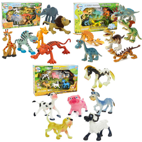 Farm Animals Play Set, Dinosaur Play Set or Safari Animals Play Set