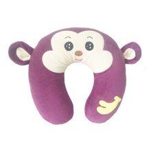 Stylish Thailand Latex Neck Protector U-Shape Pillow Neck Pillow Monkey Purple