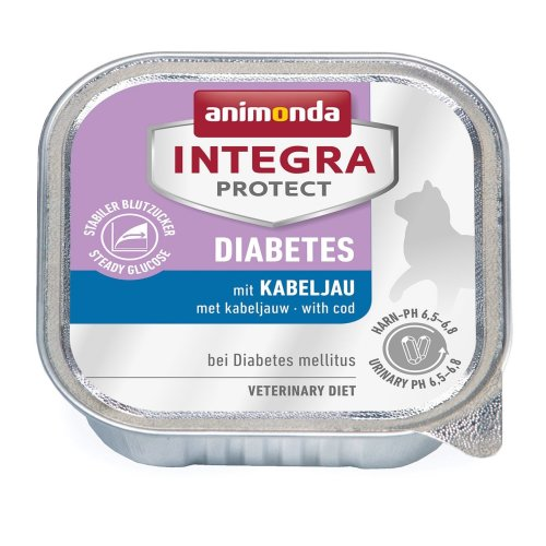 Animonda Integra Protect Diabetes with Cod 16x 100g (Pack of 1x 1.6Kg)