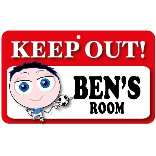 Keep Out Door Sign - Ben's Room