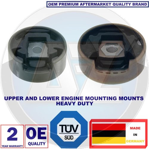 FOR VW GOLF MK5 R32 AUDI S3 UPPER LOWER ENGINE MOUNT BUSH MOUNTING BUSHES 2