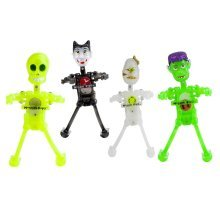 Set of 4 Halloween Character Wind-up Toys