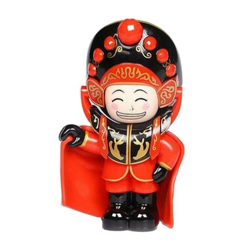Chinese Opera Face Changing Doll Sichuan Opera Figure Toy, Cloak, Red