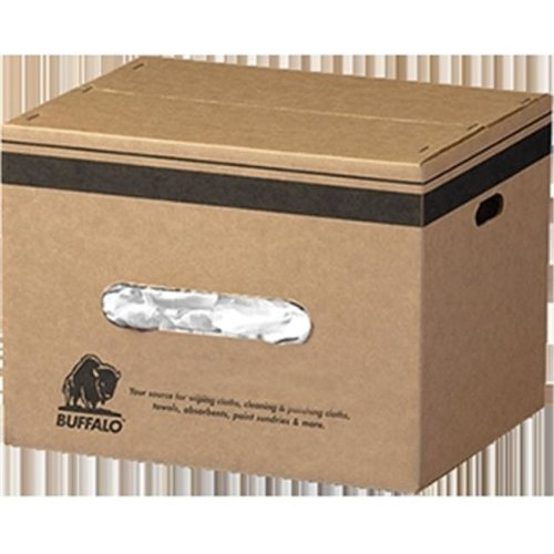 Buffalo Industries 10524 25 lbs. Recycled White Cloth Rags - Box