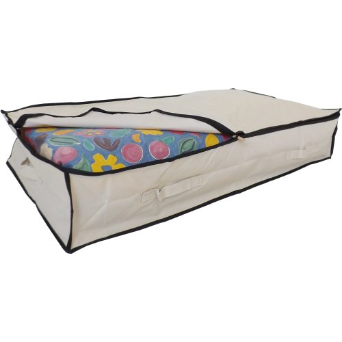 Large Underbed Storage Bag Stupidly Useful Beige 85 Litres 100x48x18cm On
