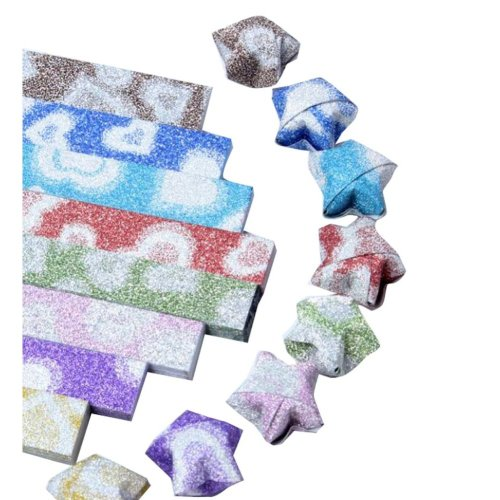 Bling Glitter 158 Sheets DIY Lucky Star Origami Paper