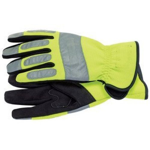 Large Draper Hi Vis Mechanics Glove - Expert Gloves High Visibility 27618 -  draper expert mechanics gloves high visibility large 27618