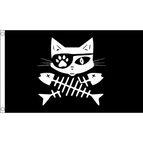 Cat pirate 2 Flag