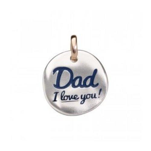 QUERIOT CIVITA COIN, DAD I LOVE YOU SILVER 925‰ GOLD 9KT F16A03S5315