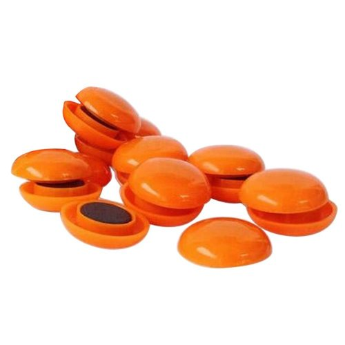 50 Pcs Chalkboard Magnets Whiteboard Magnets Fridge Magnets, Orange