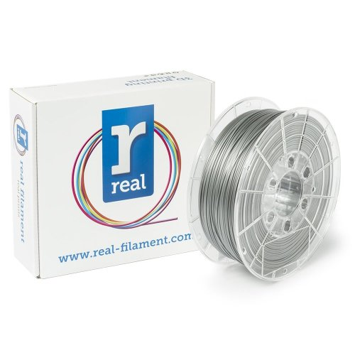 Real Filament 8719128324951 Real PLA, Spool of 1 kg, 1.75 mm, Silver