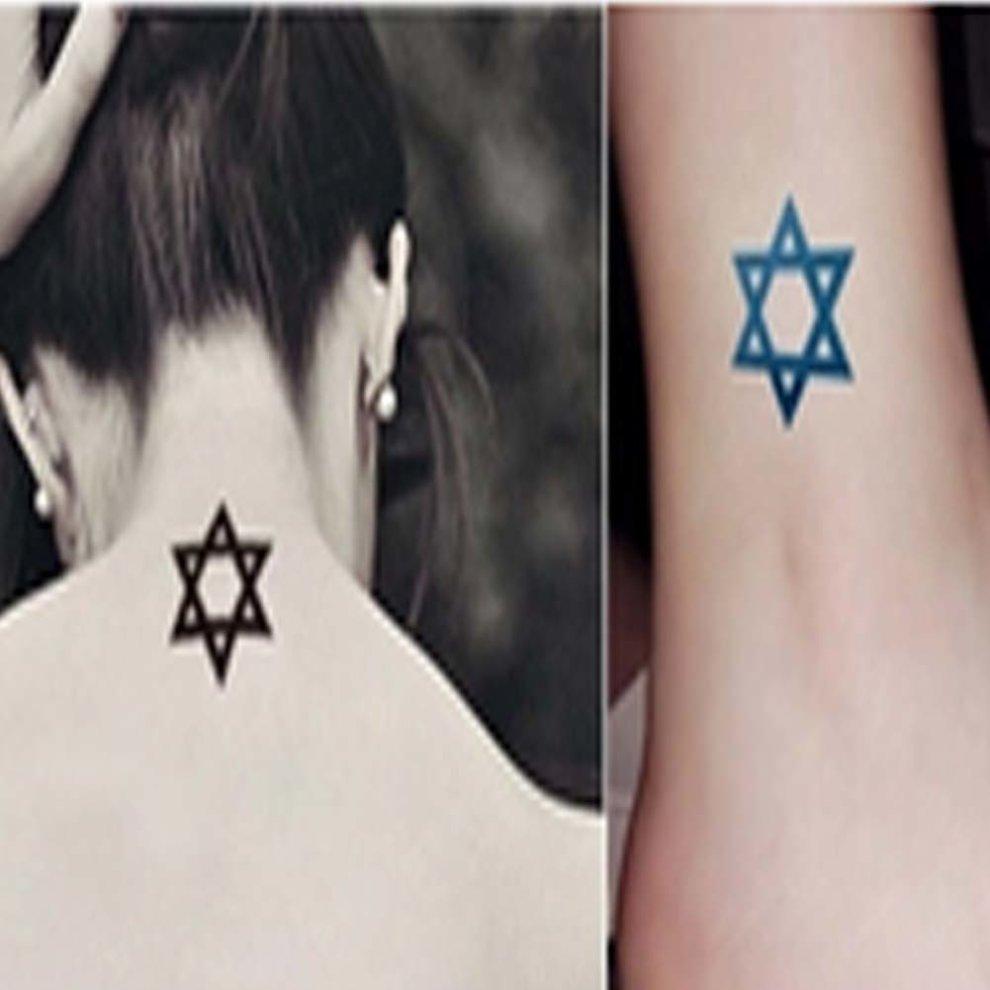 262a6496e ... 10 Pcs Star Pattern Popular Waterproof Body Tattoo Stickers Arm Totem -  1. >
