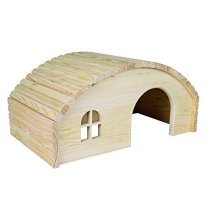 Trixie Wooden House For Rabbits, 42 x 20 x 25cm - Guinea Rabbits Pig Pine 25cm -  trixie wooden house guinea rabbits pig pine 42 20 25 cm