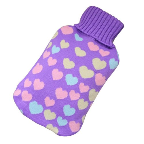[Purple] Big Hot Water Bottle Cute Hot Water Bag Hot Water Bottle With Cover