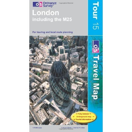 London Including the M25 (OS Travel Series - Tour Map) (OS Travel Map - Tour Map)