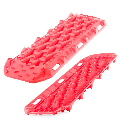 Rhino Pair of 4x4 Recovery Tracks 10t Off Road Traction Bridging Boards Sand/Mud/Snow (Red)