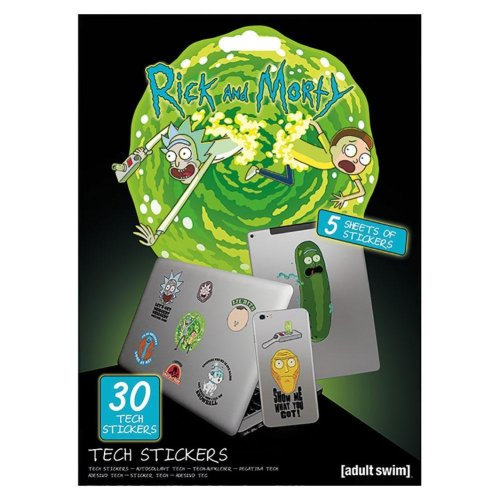 Rick And Morty Official Laptop Macbook Stickers