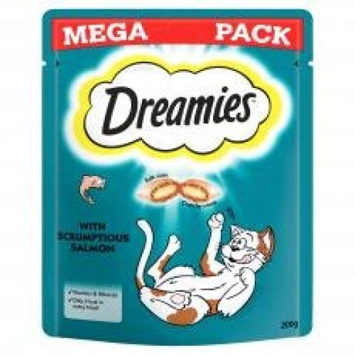 Dreamies Cat Treats With Salmon Mega Pack 200g (Pack of 6)
