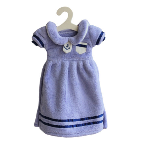 Lovely Soft Thick Hanging Princess Dress Hand Towels Drying Wipe Striped Blue