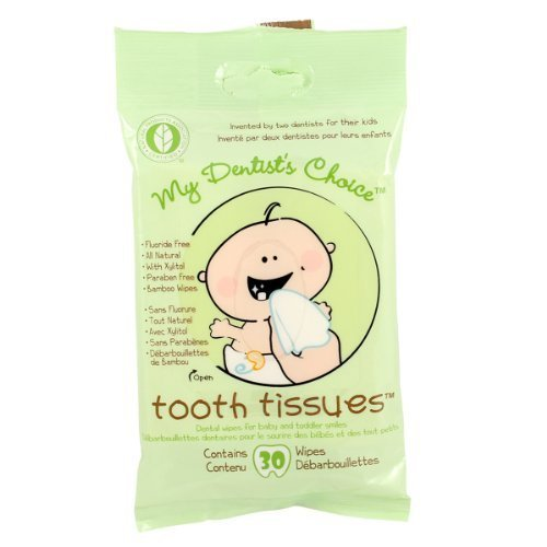 My Dentist Choice Tooth Tissues, Wipes, 30 Count (Pack of 2)