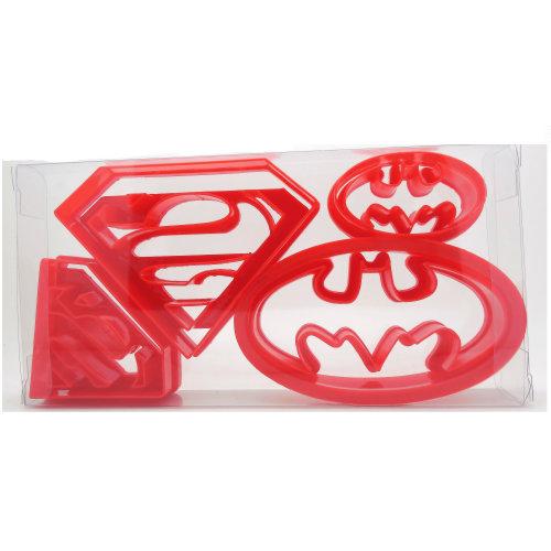 8pc Superhero Cookie Cutter Set | Superman & Batman Cutters