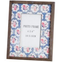 """Rose Patern Mounted Picture Frame - Picture Frame With Rose Patern Mount 4x 6"""" Home Interior Décor Accessory"""