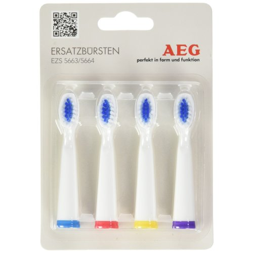 Aeg EZB 5663/56644Pack Replacement Toothbrush Heads