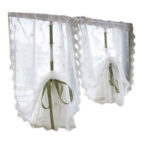 Cafe Curtain Window Valance/Romantic Curtain, Clear(170*83cm)