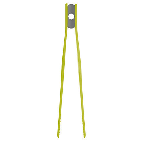 Colourworks Silicone 29cm Tweezer Tongs Green