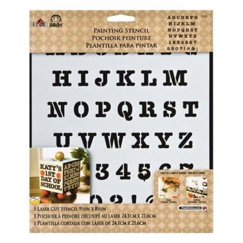 Plaid 30738 Folk Art Heavy Type Alphabet Stencil  Plastic - pack of 3