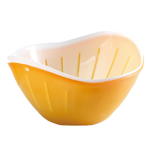 Practical Plastic Fruit Plate Basket Food Storage Vegetable Holder, Orange