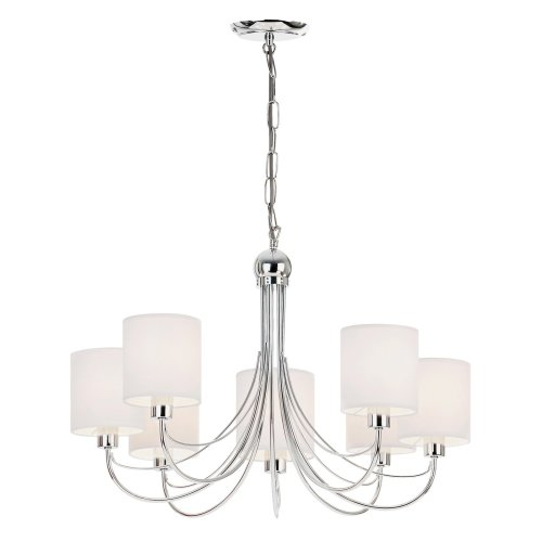 Modern Elegant Ceiling Pendant With White Shades