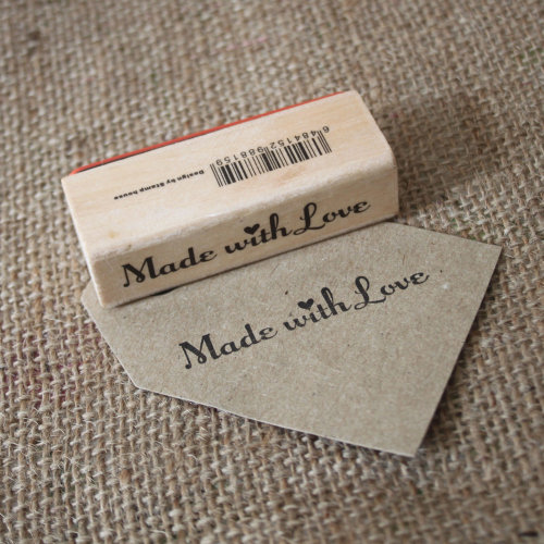 Luck & Luck 'Made With Love' Wooden Rubber Stamp