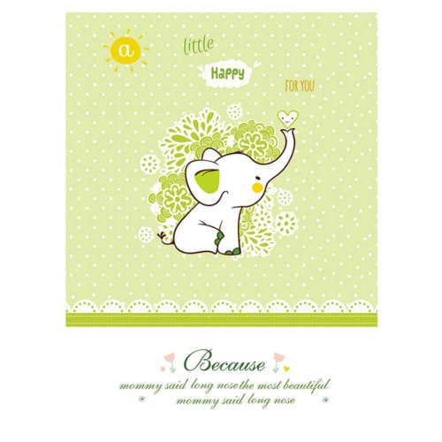 """Small elephant pattern Baby Mat Waterproof Breathable (17.72""""*11.81"""") Baby Changing Pad/set of 2"""