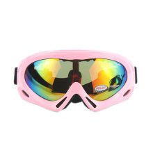 Pink Ski Goggles for Women Single Layer Colorful Lens