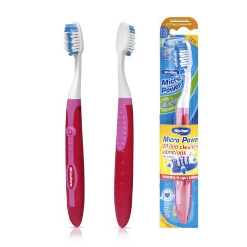 Wisdom Micro Power Medium Battery Operated Toothbrush